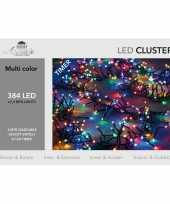 Clusterverlichting met timer 384 lampjes gekleurd 2 4 m