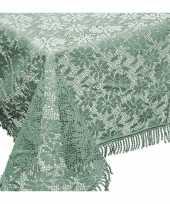 Groene tuin tafellaken voor buiten 150 x 220 cm rechthoekig van kunststof