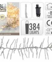 Kerstverlichting cluster warm wit 384 lichtjes