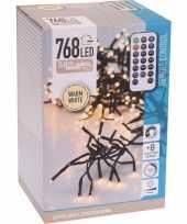 Kerstverlichting cluster warm wit 768 lichtjes op afstandbediening