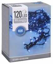 Kerstverlichting feestverlichting lichtsnoeren 120 blauwe led lampjes buiten