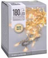 Kerstverlichting transparant snoer met 180 warm witte lampjes 13 5 meter buiten