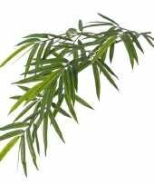 Namaak bamboe kunstplant tak groen 82 cm voor buiten outdoor