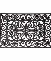 Rubberen deurmat klassiek patroon 70 x 40 cm