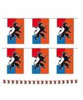 Set van 2x stuks holland oranje vlaggenlijnen met leeuw 10 meter