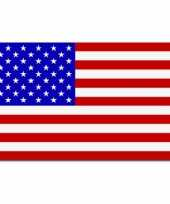 Set van 2x stuks landen thema vlaggen stars and stripes amerika usa 90 x 150 cm feestversiering