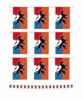 Set van 3x stuks holland oranje vlaggenlijnen met leeuw 10 meter