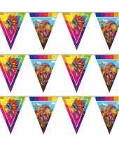 Set van 3x stuks indianen verjaardag thema vlaggenlijn 10 meter