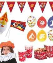 Sinterklaas thuis intocht feest versiering pakket xl voor 4 kinderen