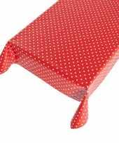 Tafelzeil polkadot rood 140 x 240 cm