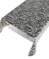 Talfelzeil grijs blauw met stenen motief 140 x 240 cm