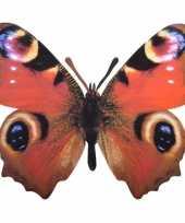 Tuinversiering dagpauwoog vlinder 25 cm